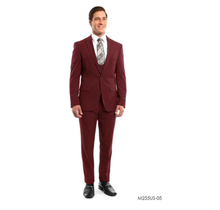 Tazio Men's 3 Piece Ultra Slim Fit Suit M255US -05
