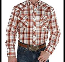 Roper Men's Orange Plaid Western L/S Shirt