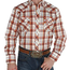 Roper Roper Men's Orange Plaid Western L/S Shirt