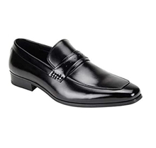 Giorgio Venturi Men's Leather Dress Shoe - Perforated Strap, Black 6818