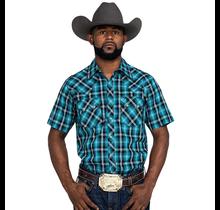Wrangler Men's Retro Plaid Short Sleeve Western Shirt MVR509T