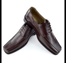 Antonio Cerrelli Mens Leather Dress Shoes, Charcoal Brown 5795