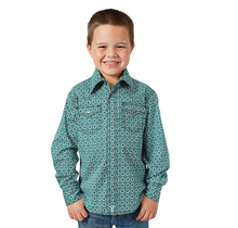 Wrangler Wrangler Boys' 20X Geo Print Long Sleeve Western Shirt BJC265G