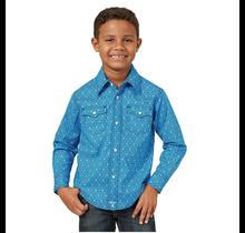 Wrangler Wrangler Boys' 20X Geo Print Long Sleeve Western Shirt BJC274B