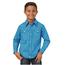 Wrangler Wrangler Wrangler Boys' 20X Geo Print Long Sleeve Western Shirt BJC274B