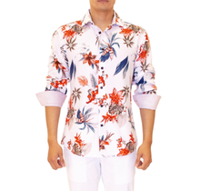 BC Men's Button-Up Long Sleeve Dress Shirt 202336