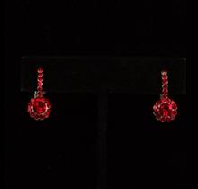 Crystal Earrings Red #25161