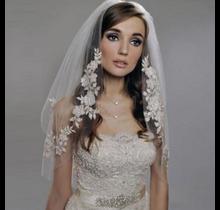 Women's Veil with Floral Accent Trim #MV3101