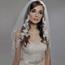MF Women's Veil with Floral Accent Trim #MV3101