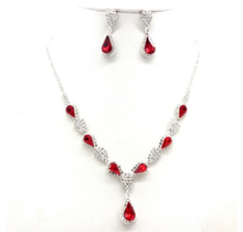 Ciel Women's Necklace & Earring Set #NB300610RED