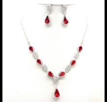 Ciel Women's Necklace & Earring Set #NB300610RED