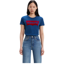 Levis Women's The Perfect Tee Red Fuzzy Logo 17369-0617