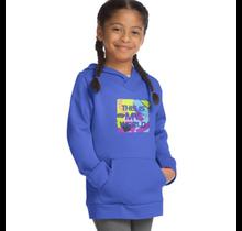 Hanes Sport Girl's Graphic Tech Fleece Pullover Hoodie OK381