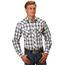 Roper Roper Men's Plaid Western L/S Shirt 101-101-565BL