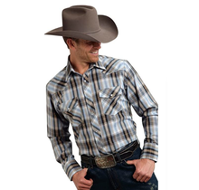 Roper Men's Plaid Western L/S Shirt 101-242
