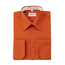 Berlioni Italy Men's Convertible Cuff Solid Dress Shirt | Rust