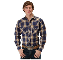 Roper Men's Plaid Western L/S Shirt 101-787BU