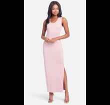 Bebe Women's Logo Side Slit Maxi Dress