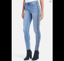 Bebe Women's Logo Side Taping Jeans