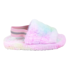 AWS Women's Open Toe Furry Sandals