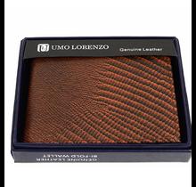 Umo Lorenzo Bi-Fold Genuine Leather Lizard Wallet MGLW-A36L