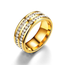 SEVEN50 Stainless Steel Double Band Eternity Cz Stone