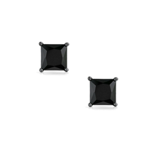 SEVEN50 Sterling Silver Princess Square Stud Earrings