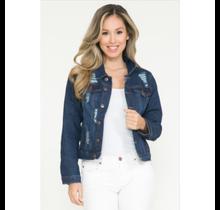 Women's Ripped Denim Jacket HY-117