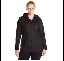 Just My Size Women's Full Zip Jersey Hoodie  OJ168 | Black
