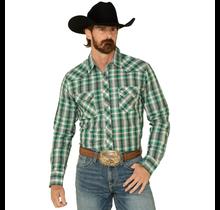 Wrangler Men's Retro Plaid Long Sleeve Western Shirt MVG290G