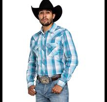 Wrangler Men's Retro Plaid Long Sleeve Western Shirt MVG288B