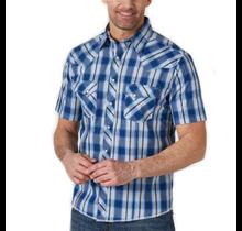 Wrangler Men's Retro Plaid Short Sleeve Western Shirt MVG289B