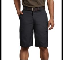 "Dickies Men's 11"" Regular Fit Stretch Twill Cargo Short WR556BK"