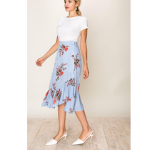 On The Land Women's Long Skirt with floral design H18A974