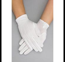 Unisex White Cotton Gloves w/ Snap Back