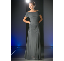 Cinderella Off the Shoulder Fitted Stretch Gown 3813