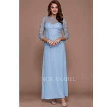Nox Anabel 3 Quarter sleeve Laced Mother of Bride Dress 5083