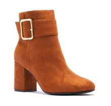 Qupid Women's High Heel Suede Ankle w/ Strap