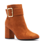 Qupid Qupid Women's High Heel Suede Ankle w/ Strap