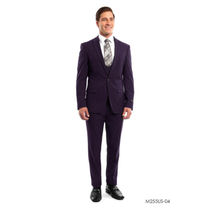 Tazio Men's 3 Piece Ultra Slim Fit Suit M255US -04