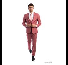 Tazio Men's 3 Piece Ultra Slim Fit Suit M255US -06