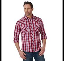 Wrangler Men's Long Sleeve Plaid Western Snap Shirt MVG384R