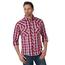 Wrangler Wrangler Men's Long Sleeve Plaid Western Snap Shirt MVG384R