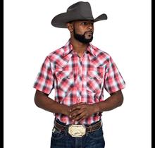 Wrangler Men's Long Sleeve Plaid Western Snap Shirt MVR506R