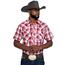Wrangler Wrangler Men's Long Sleeve Plaid Western Snap Shirt MVR506R
