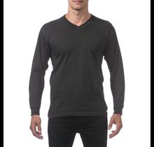 ProClub Men's Comfort V-Neck Long Sleeve Tee