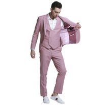 Tazio Men's 3 Piece Single Button Skinny Suit M336SK-04