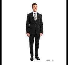 Tazio Men's 3 Piece Ultra Slim Fit Suit M255US -01