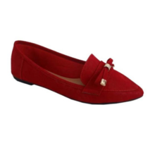 Bamboo Women's Suede Pointy Toe Flats