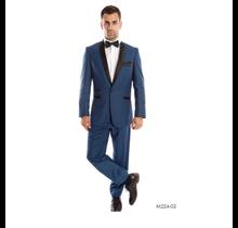 Tazio Men's 3pc Plaid Slim Fit Suit M224S-2